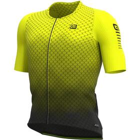 Alé Cycling R-EV1 Velocity Graphene Maglietta a Maniche Corte Uomo, nero/giallo